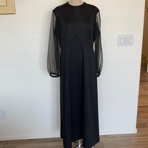 Vintage NWT Joan Curtis sheer sleeve dress